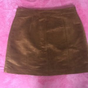 Old Navy Skirts - Old Navy Faux Suede Tan Skirt